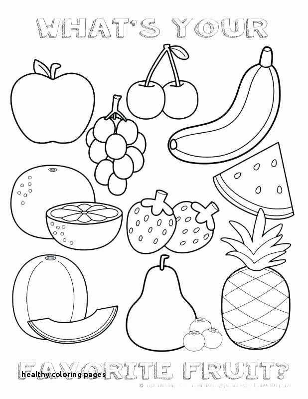 Fruit Colouring Pages √ Fruit Coloring Pages or Health Coloring Pages Unique