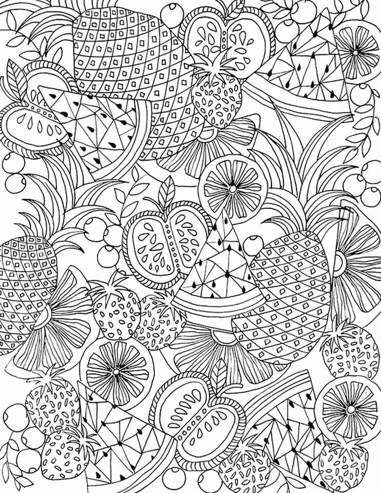 Fruit Colouring Pages Adult Coloring Pages Colored Unique Adult Coloring Printable