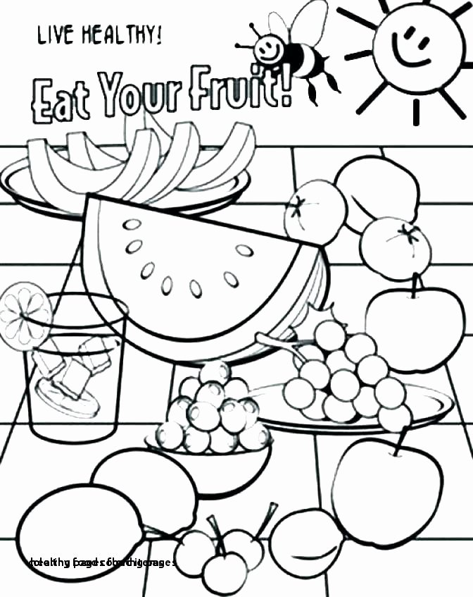 Fruit Colouring Pages Best Breakfast Foods Coloring Pages – Tintuc247