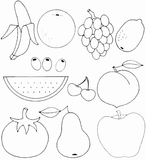 Fruit Colouring Pages Of Fruit Salad Coloring Pages Sabadaphnecottage