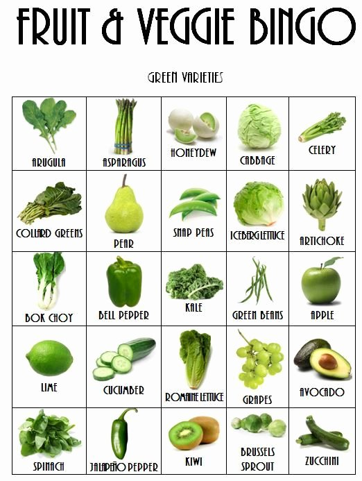 Fruits and Vegetables Worksheet Fun with Fruits & Veggies Health