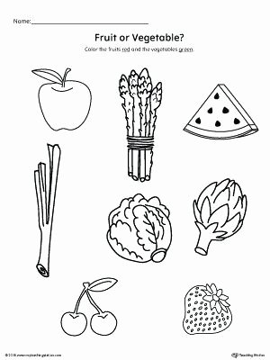 Fruits and Vegetables Worksheets is and are Worksheets for Kindergarten