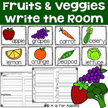 Fruits and Vegetables Worksheets Pdf Fruits and Ve Able Unit Worksheets & Teaching Resources