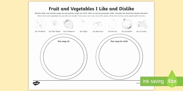 Fruits and Vegetables Worksheets Pdf Likes and Dislikes English Worksheets – Moonleads