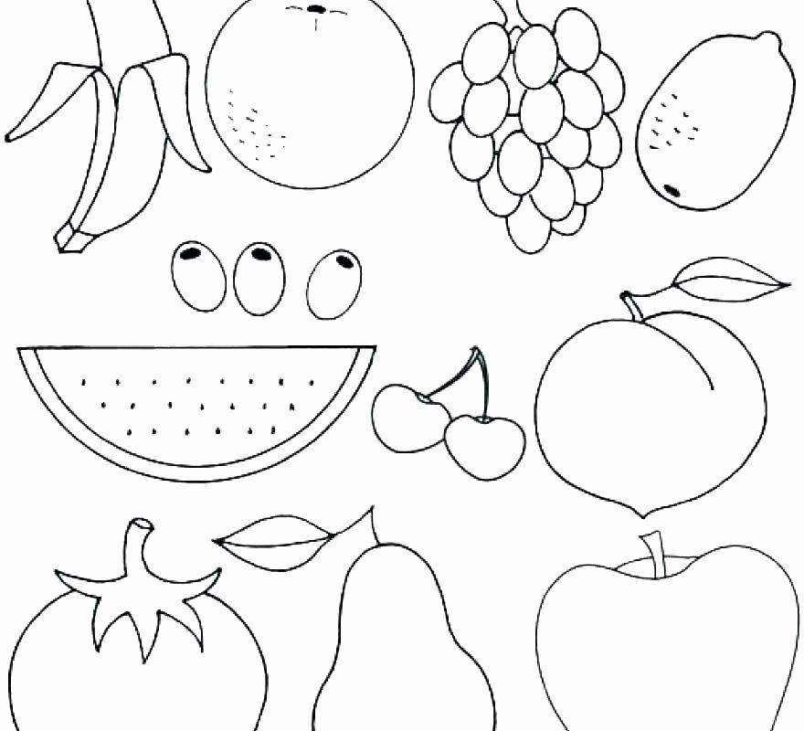 Fruits and Vegetables Worksheets Pdf Veggie Coloring Pages – Hiveclothing