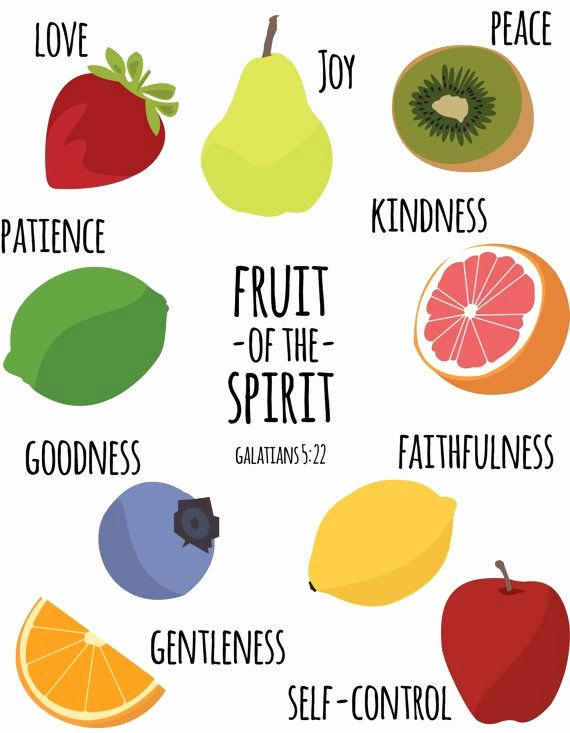 Fruits Of the Spirit Worksheets Fruits Of the Holy Spirit Sunday School Lesson