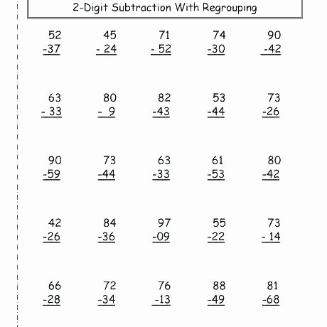 Fun Subtraction with Regrouping Worksheets 5 Digit Addition with Regrouping Worksheets