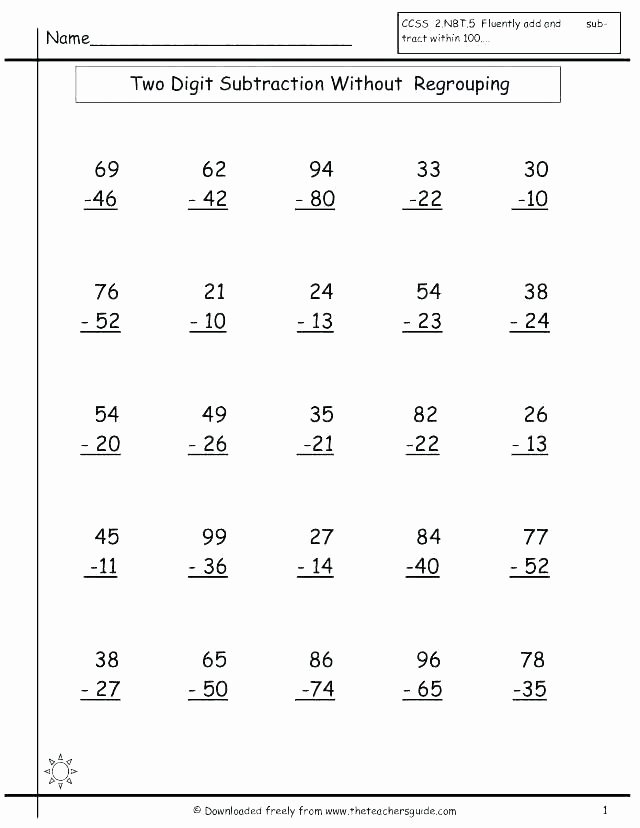 Fun Subtraction with Regrouping Worksheets Adding Numbers Worksheets