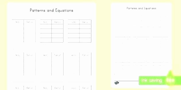 Function Table Worksheet Answer Key Writing Equations From Function Tables Worksheets