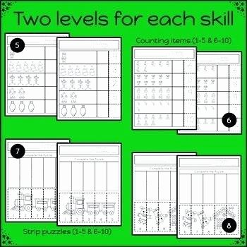 cut and paste math worksheets for special education autism free students