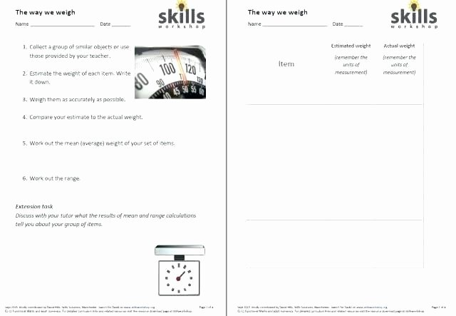 Functional Maths Worksheets Practical Math Worksheets