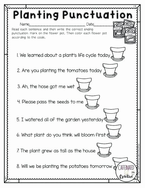 Funny Comma Mistakes Worksheets Fresh Planting Punctuation is A Fun Way for Students to Practice