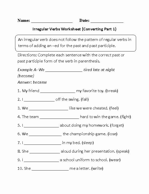 Future Tense Verbs Worksheet Free Past Tense Verb Worksheets First Grade Verb Worksheets