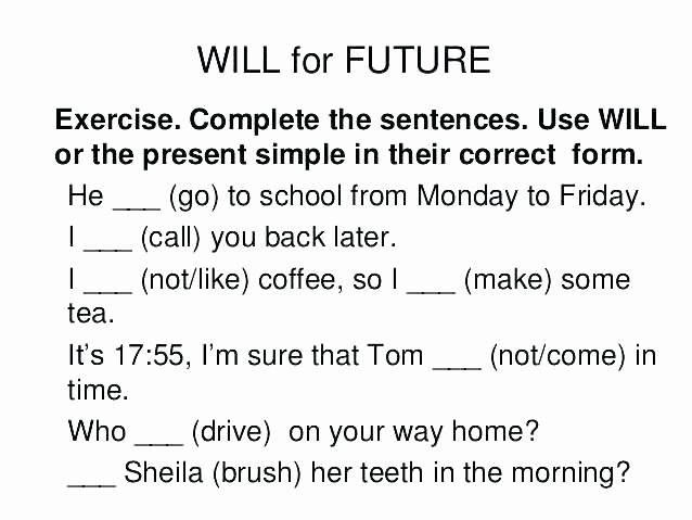Future Tense Verbs Worksheet Future Tense Worksheets Future Tense Will Worksheet