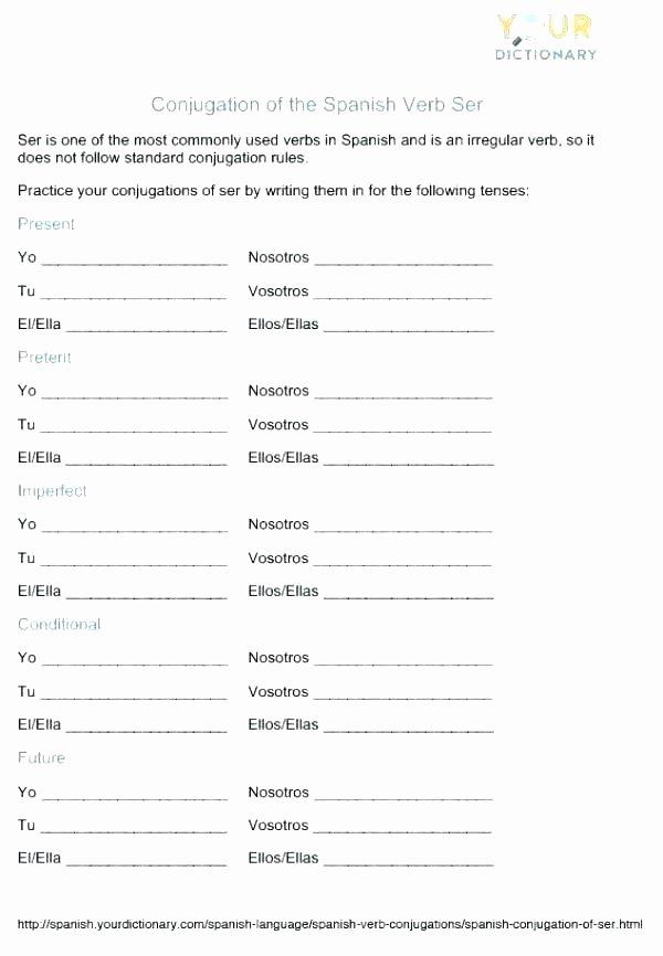 Future Tense Verbs Worksheet Verb Conjugation Language Printable Dictionary Skills