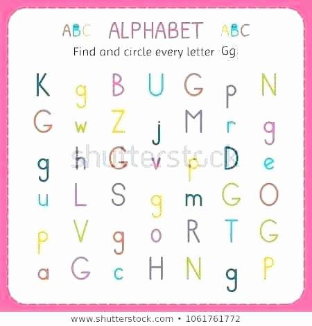 G Worksheets for Preschool Find and Circle Every Letter G Worksheet for Kindergarten