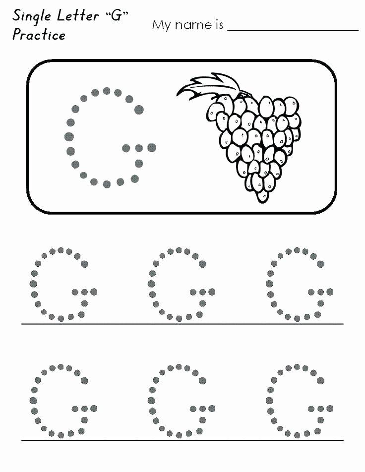 G Worksheets for Preschool Letter G Worksheets for Kindergarten Worksheet Writing Big