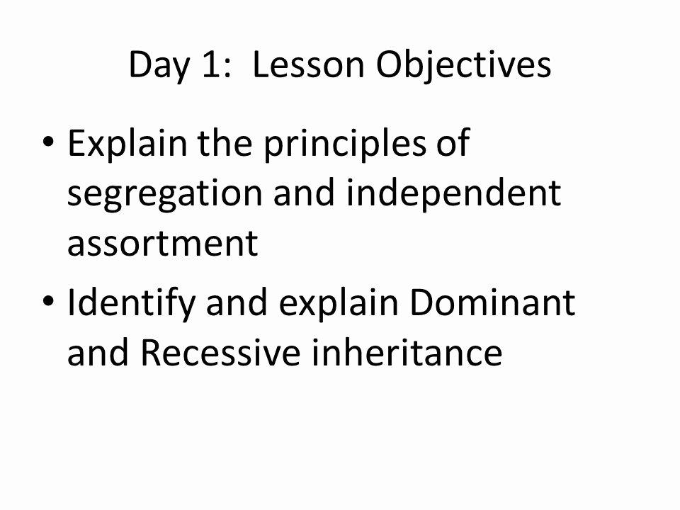 Genetics and Heredity Worksheet Fresh topic Xiii Heredity Mendelian Genetics Day 1 Lesson
