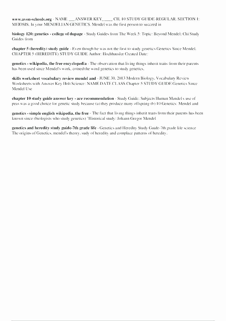 Genetics and Heredity Worksheet Luxury Mendelian Genetics Worksheets Answers – Morningknits