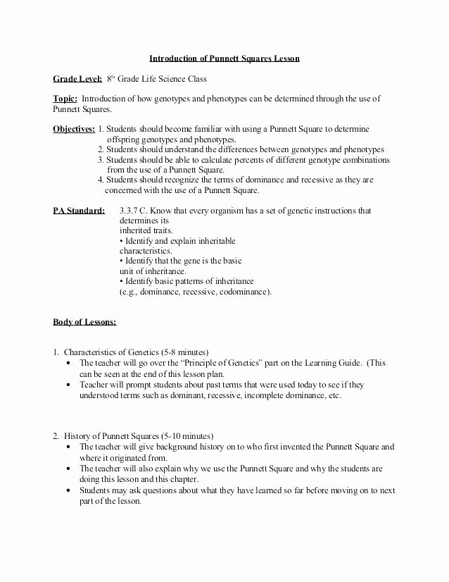 life science worksheets high school genetics lesson plans info