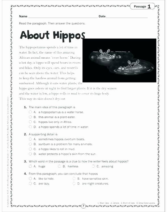 Genre Worksheets 4th Grade Free Printable Grade Reading Worksheets Fourth for
