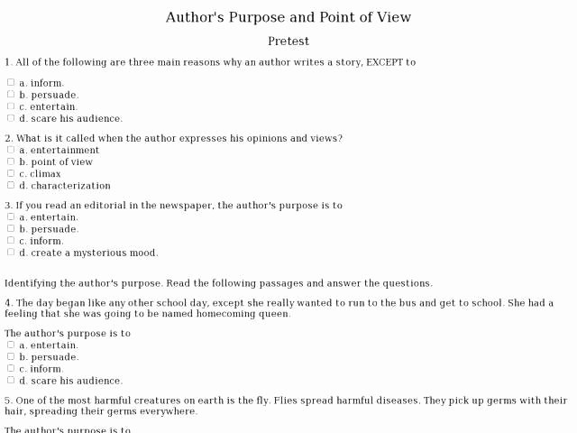 Genre Worksheets 4th Grade Point Of View Worksheets 640 480 Point View Worksheets