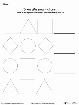 Geometric Shape Patterns Worksheet Geometric Shapes Worksheets
