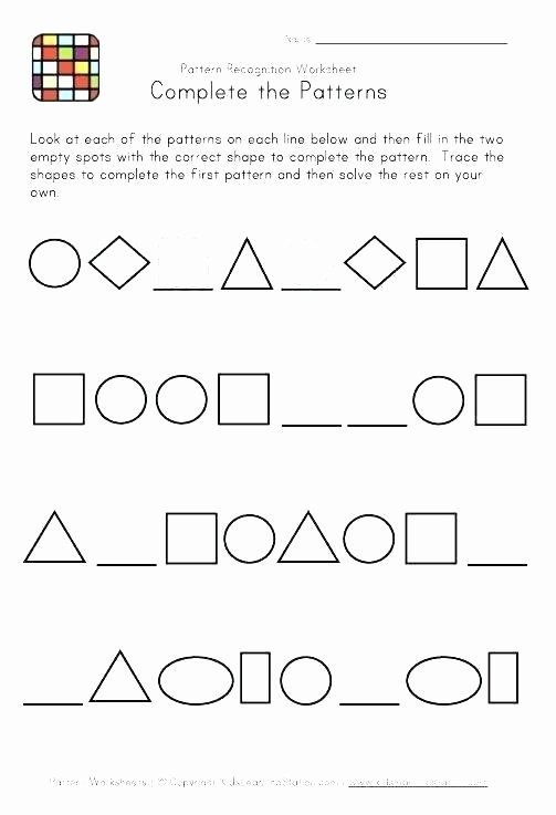 Geometric Shape Patterns Worksheet Identifying Patterns Worksheets – todosobrelacorte