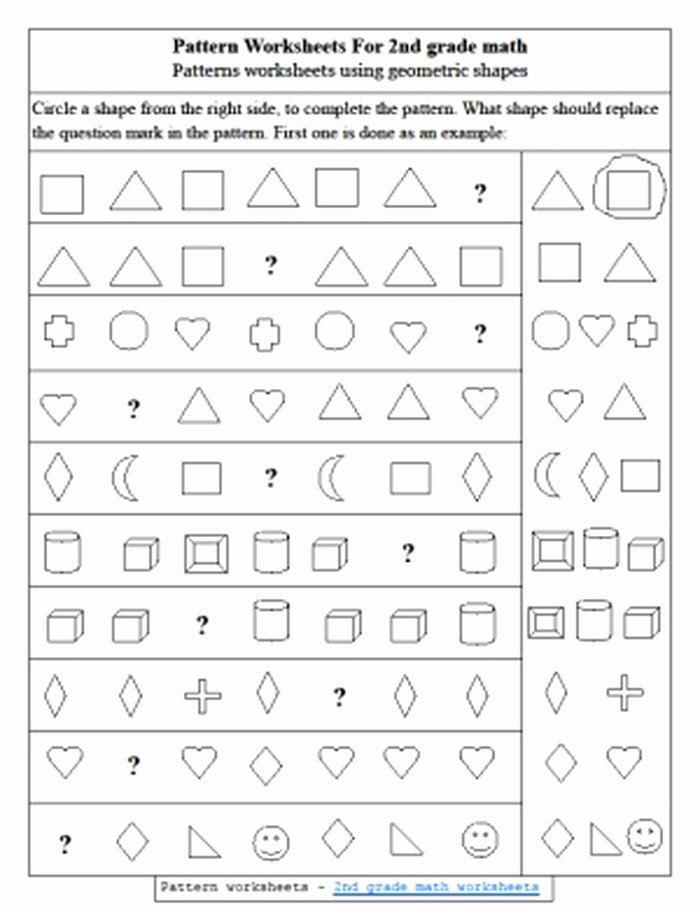Geometric Shapes Patterns Worksheets 12 Shape Pattern Worksheets 3rd Grade Math Patterns 3rd