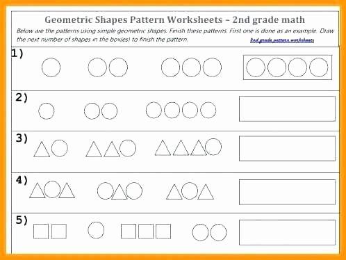 Geometric Shapes Patterns Worksheets 2nd Grade Math Patterns Worksheets