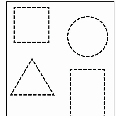 Geometric Shapes Patterns Worksheets Easy Preschool Patterns Worksheet 1 Shapes Pattern