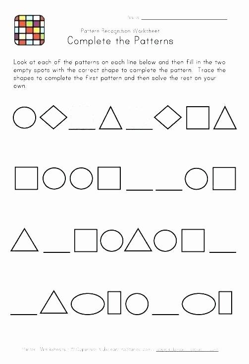 Geometric Shapes Patterns Worksheets Identifying Patterns Worksheets – todosobrelacorte