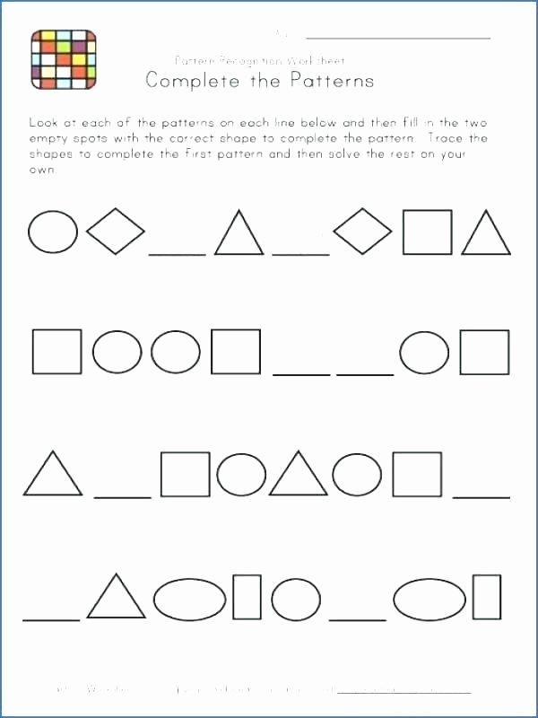 Geometric Shapes Patterns Worksheets Math Number Patterns Worksheets