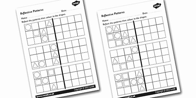 Geometric Shapes Patterns Worksheets Reflective Patterns Worksheets Patterns Worksheets