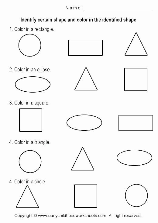 Geometric Shapes Patterns Worksheets Second Grade Shapes Worksheets