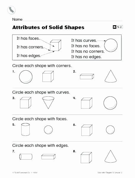 Geometric Shapes Worksheet 2nd Grade 2nd Grade Geometry Worksheets