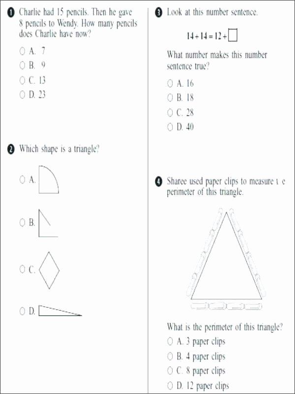 Geometric Shapes Worksheet 2nd Grade 2nd Grade Measurement Worksheets Elegant First Math Unit