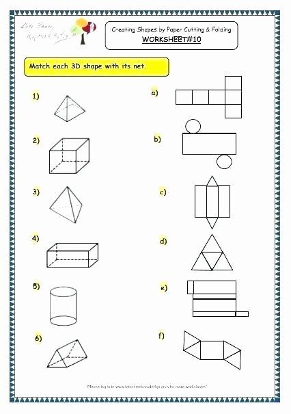 Geometric Shapes Worksheet 2nd Grade 3 Dimensional Worksheets