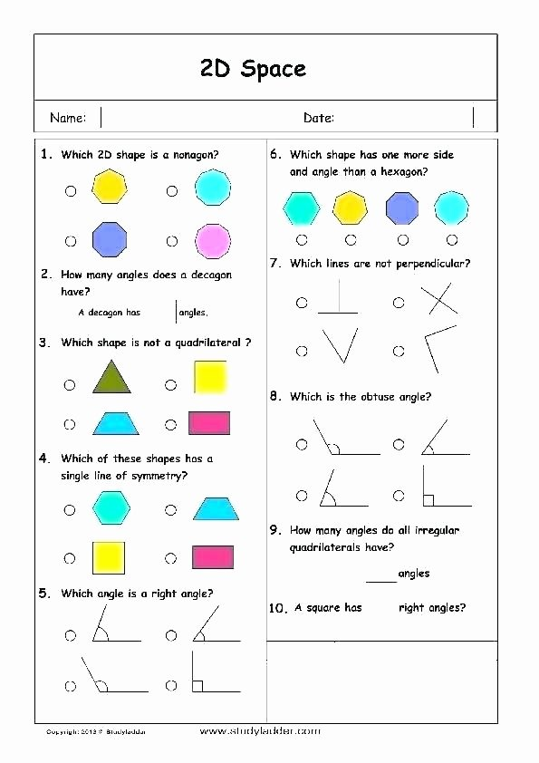 Geometric Shapes Worksheet 2nd Grade and Shapes Worksheets Bundle Objects Sample 1 Grade Geometry