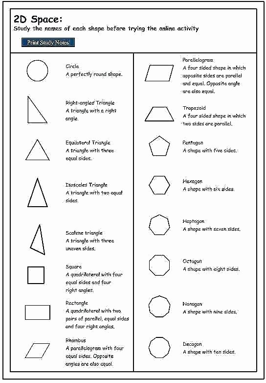 Geometric Shapes Worksheet 2nd Grade Identify and Pare Two Three Dimensional Shapes Worksheet