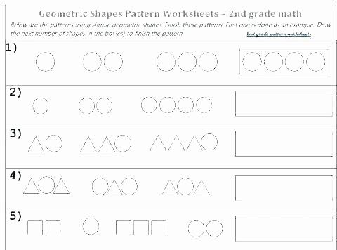Geometric Shapes Worksheet 2nd Grade Number and Shape Patterns Worksheets