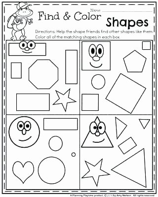 Geometric Shapes Worksheets 2nd Grade Free Printable Geometric Shapes Worksheets for Preschool and