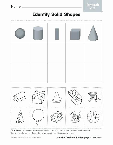 Geometric Shapes Worksheets 2nd Grade Identifying Shapes Worksheets 2nd Grade