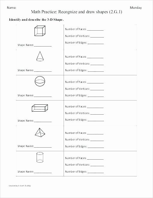 Geometric Shapes Worksheets 2nd Grade Math Practice Worksheets 2nd Grade