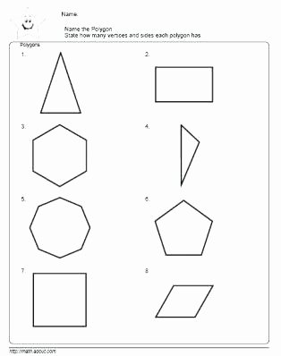 Geometric Shapes Worksheets 2nd Grade Polygon Worksheets 2nd Grade