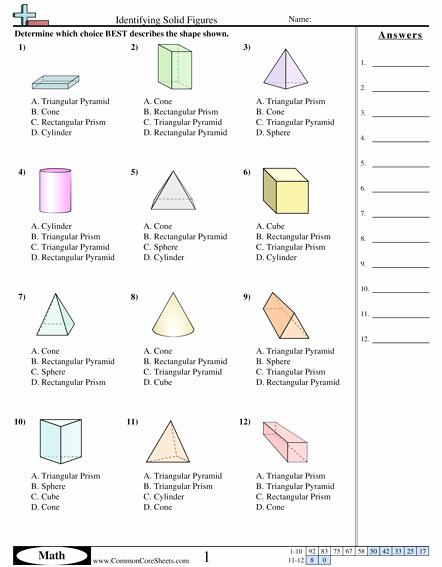 Geometric Shapes Worksheets 2nd Grade Shapes Worksheets