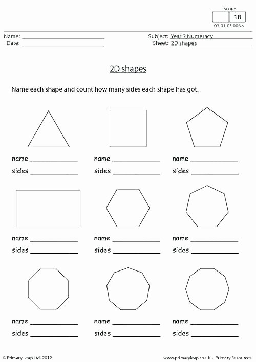 Geometric Shapes Worksheets 2nd Grade Two Dimensional Shapes Worksheets Grade 2