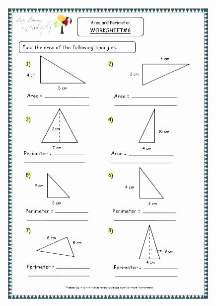 Geometry Word Problems Worksheets Perimeter Worksheet 6 area and Word Problems Worksheets