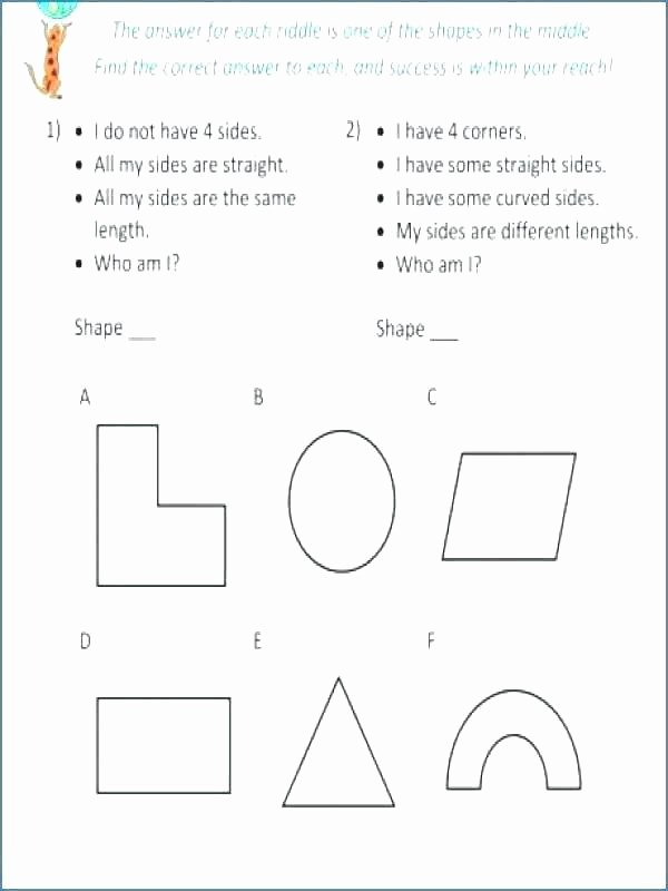 Geometry Worksheet 2nd Grade Fifth Grade Geometry Worksheets Best Fun for Math Free P
