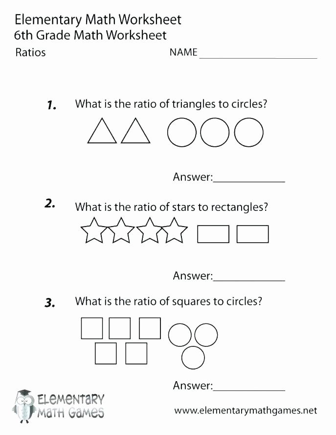 Geometry Worksheet 2nd Grade Free Printable Ratios Worksheet for Sixth Grade Geometry